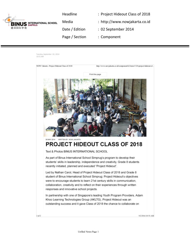 Project-Hideout-Class-of-2018