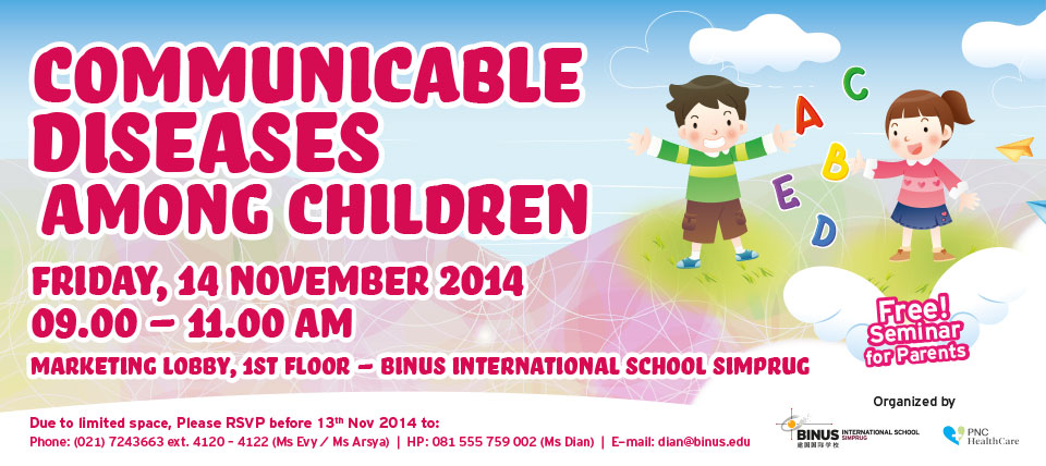 """""""COMMUNICABLE DISEASES AMONG CHILDREN""""  Free Seminar!"""