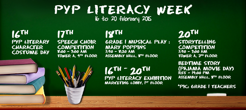 PYP Literacy Week (EY1 – Grade 5 students)