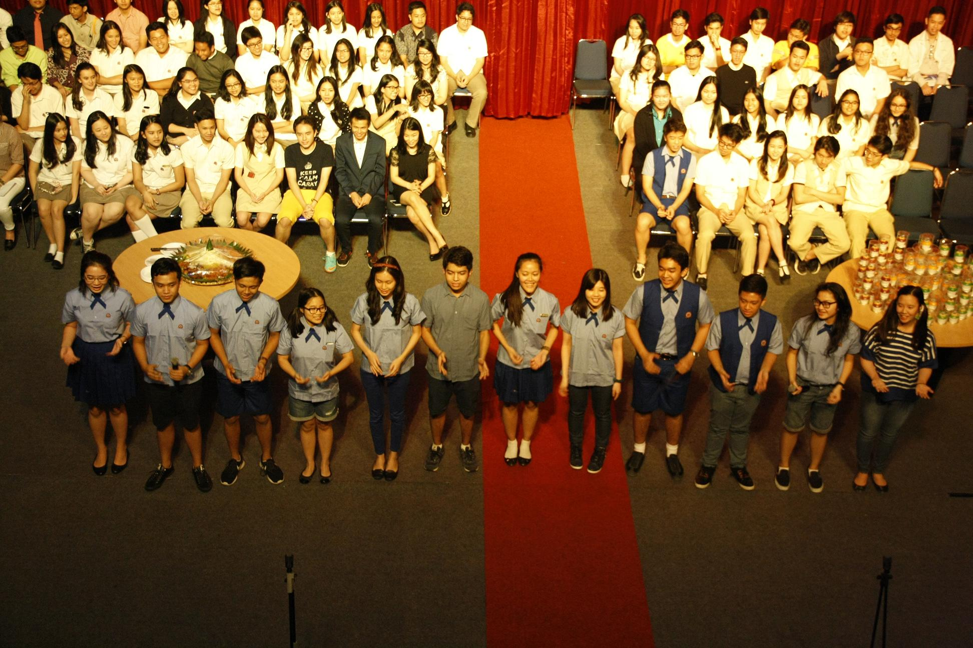 SALUTE DAY OF BINUS SCHOOL SIMPRUG:  FAREWELL AND SUPPORT TO THE NEW WORLD