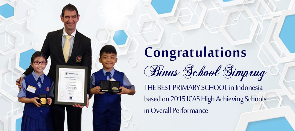 "BSS received award as "" THE BEST PRIMARY SCHOOL IN INDONESIA"""