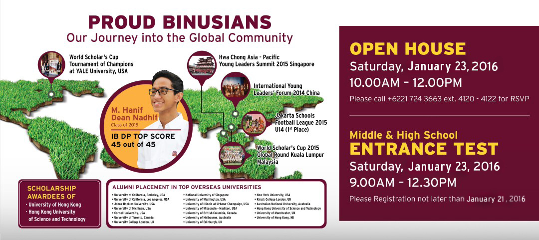 COME & VISIT BSS OPEN HOUSE ( Saturday, 23 January 2016 )