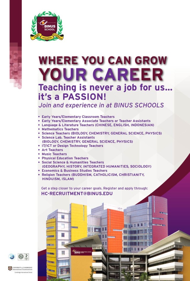 BINUS SCHOOL CAREER