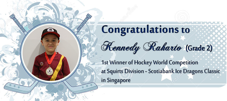 CONGRATULATIONS to Kennedy Raharto (Grade 2) as a 1st Winner at Hocky World Competition in Singapore. We are proud of you ! smile emoticon  #proudbinusian #greaternusantara