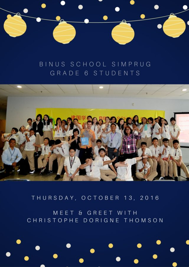 BINUS SCHOOL SIMPRUGGrade 6 students