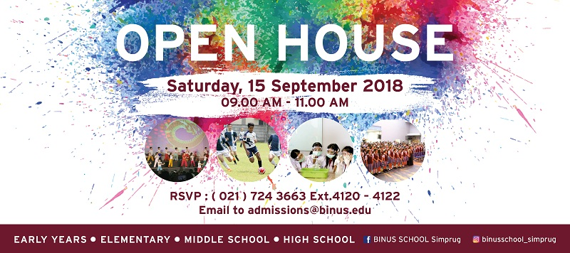 BINUS SCHOOL Simprug OPEN HOUSE