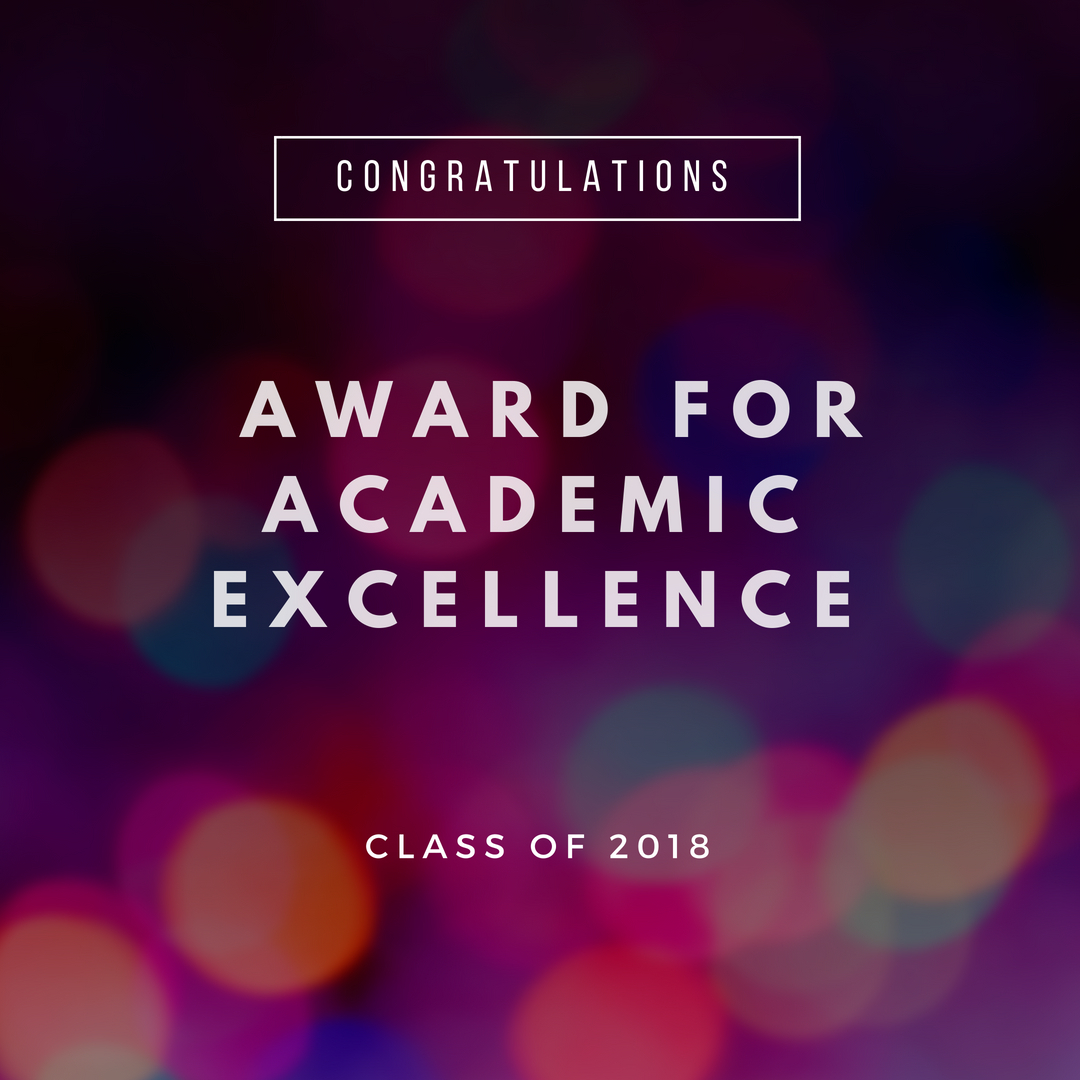 Award for Academic Excellence