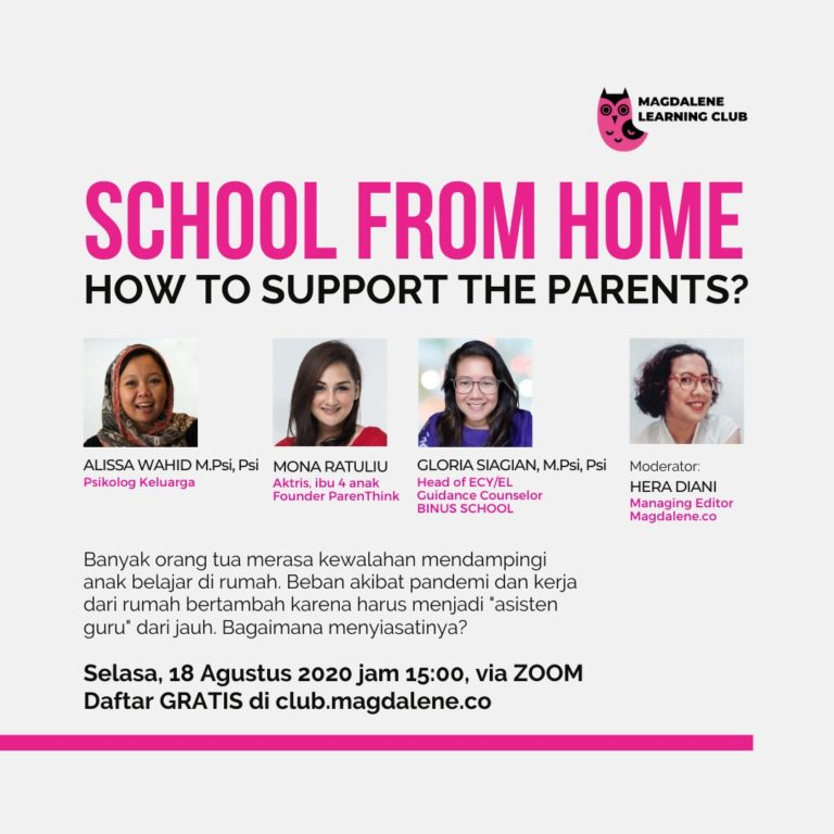 School from Home. How to Support The Parents ?